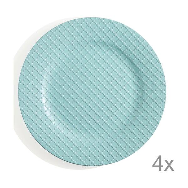 Zestaw 4 talerzy z tworzywa sztucznego Tiffany