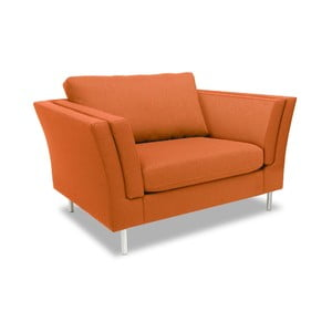 Pomarańczowy fotel VIVONITA Connor