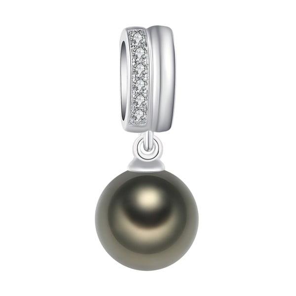 Zawieszka   z jasnozieloną perłą Pearls of London Lady