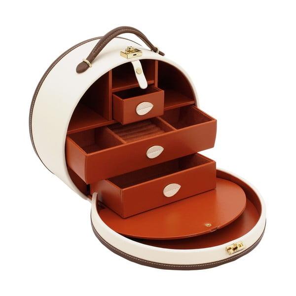 Jasnobeżowa szkatułka/kuferek na kosmetyki Friedrich Lederwaren Ascot