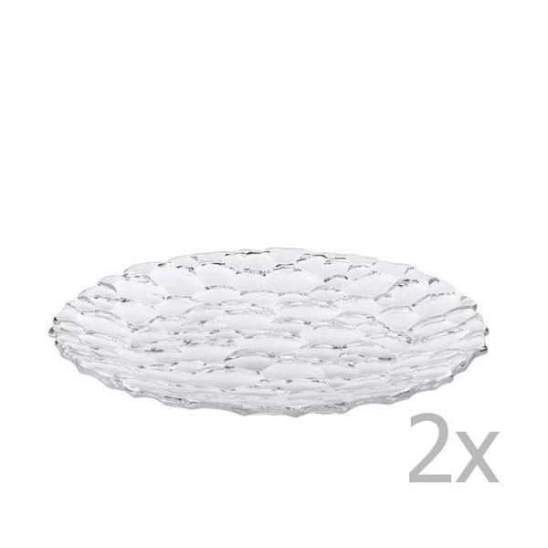 Komplet 2 talerzy ze szkła kryształowego Nachtmann Sphere, ⌀ 32 cm