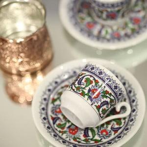 Komplet 6 filiżanek z talerzykiem Ornament