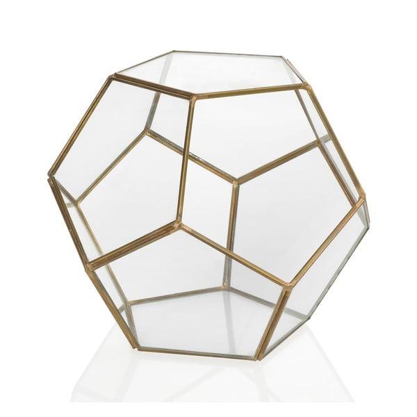 Geometryczne terrarium Gold