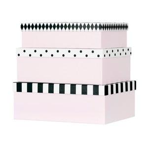 Zestaw 3 papierowych pudełek dekoracyjnych Miss Étoile Open & Closed Eyes