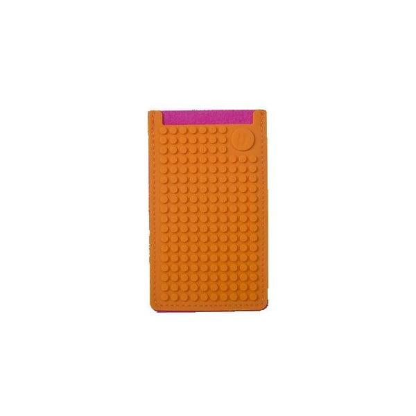 Pikselowe etui na telefon PixelArt, małe, fuksja/pomarańczowe