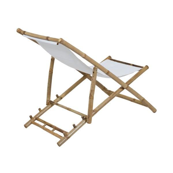 Leżak bambusowy z białym siedziskiem Santiago Pons Hollywood