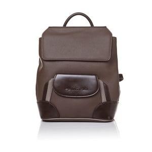 Skórzany plecak Marta Ponti Aipee, jasnobrązowy/ciemnobrązowy