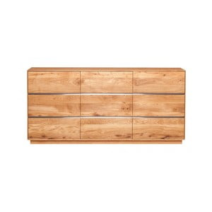 Trzydrzwiowa szafka z dębowego drewna Fornestas Hamilton