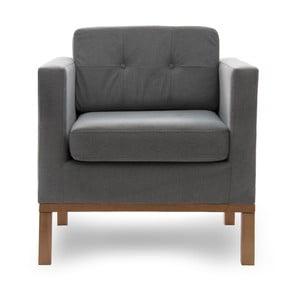 Fotel VIVONITA Jonan Light Grey, naturalne nogi