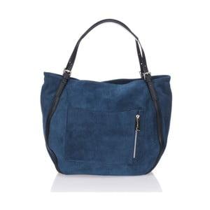 Skórzana torebka Krole Karin, niebieska