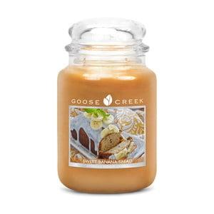 Świeczka zapachowa w szklanym pojemniku Goose Creek Słodki chleb bananowy, 0,68 kg
