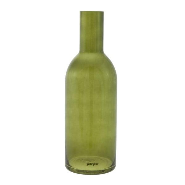 Wazon/świecznik Bottle 36,8 cm, zielony
