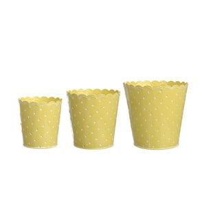 Zestaw 3 doniczek Yellow Zinc