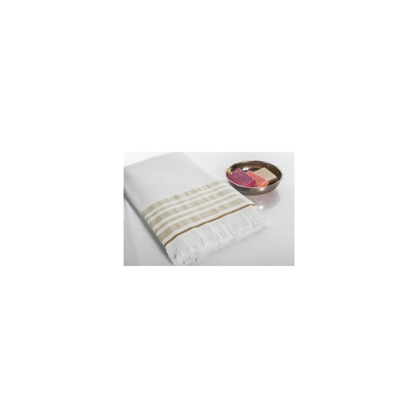 Ręcznik Hamam Sauna Clasic Beige, 100x180 cm