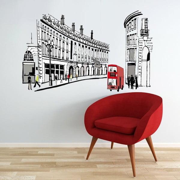 Naklejka ścienna London Street, 90x60 cm