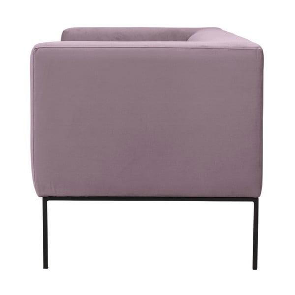 Jasnoróżowa aksamitna 2-osobowa sofa Windsor & Co Sofas Neptune