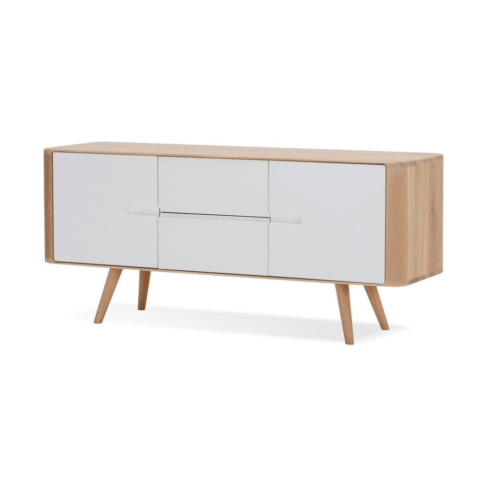 Szafka z drewna dębowego Gazzda Ena, 135x42x60 cm