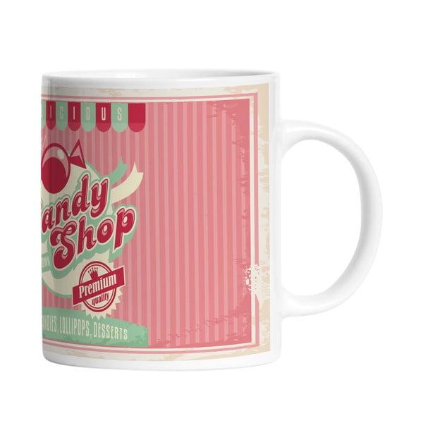 Ceramiczny kubek Candy Shop, 330 ml