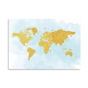 Plakat Americanflat World in Gold, 30x42 cm