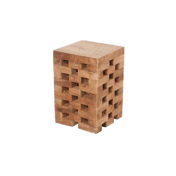 Stolik z tekowego drewna Mikael