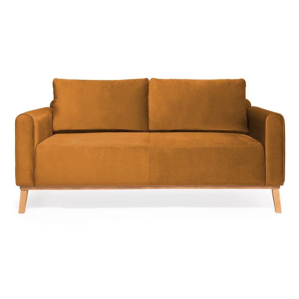 Musztardowa sofa 3-osobowa Vivonita Milton Trend