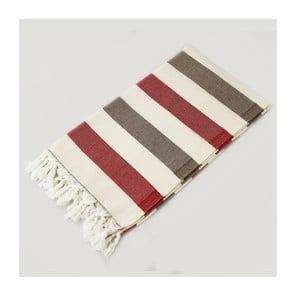 Ręcznik hammam Rainbow Style Red Brown, 100x180 cm