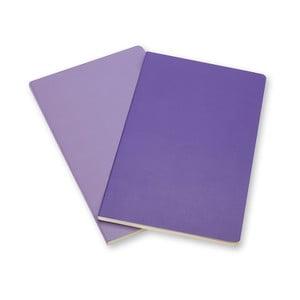 Zestaw 2 notesów  Moleskine Violet, czyste 9x14 cm