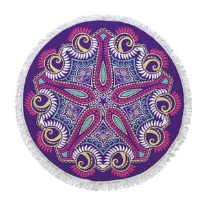 Okrągły ręcznik Purple Universe, ⌀150cm