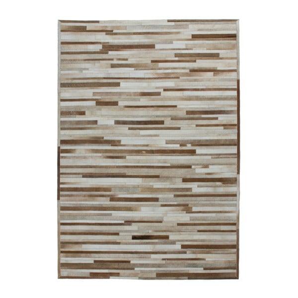 Kremowy skórzany dywan Eclipse, 160x230cm