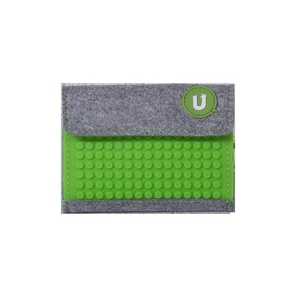 Pikselowy portfel, szary/zieleń
