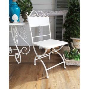 Krzesło metalowe Oldie White