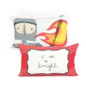 Dwustronna poszewka bawełniana na poduszkę Mr. Fox Knight, 50x30cm