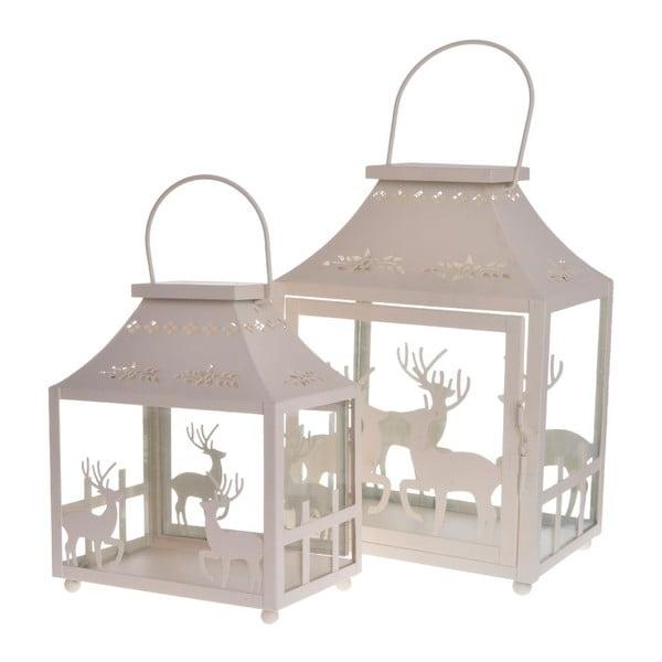 Zestaw 3 lampionów Reindeers Cream