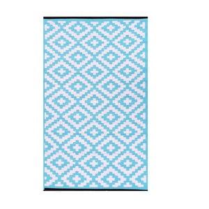 Jasnoniebieski dwustronny dywan zewnętrzny Green Decore Nirvana, 120x180 cm