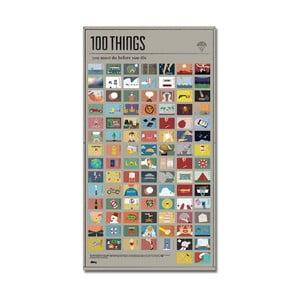 Plakat 100 rzeczy, które musisz zrobić w życiu