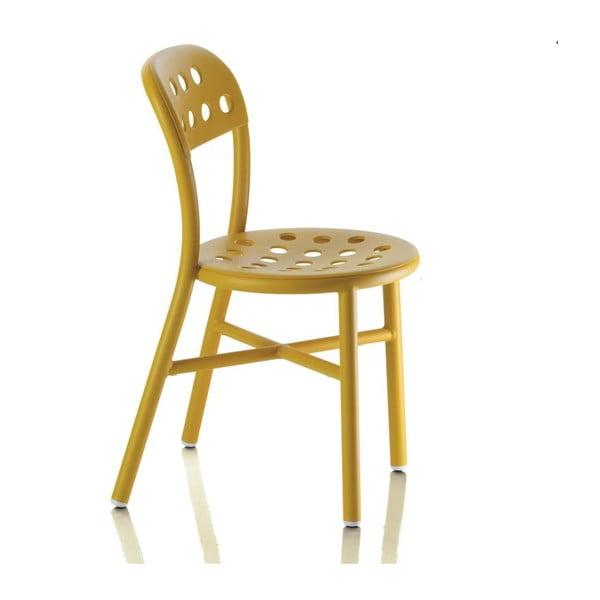 Krzesło Pipe, musztardowe