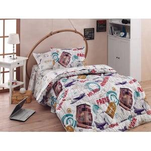 Narzuta, poszewki na poduszkę i ozdobna falbana wokół łóżka World, 155x215 cm