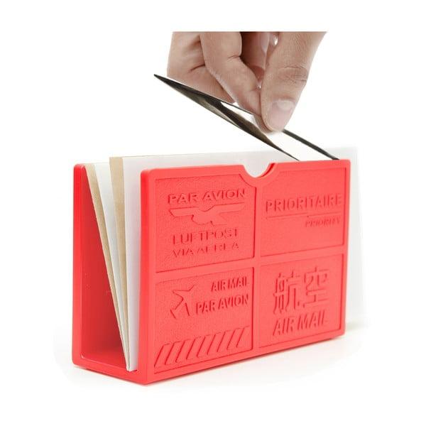 Stojak na listy z nożykiem Par Avion, czerwony