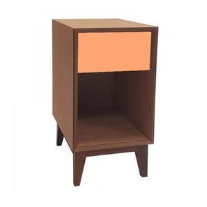 Duża szafka nocna z pomarańczową szufladą Ragaba PIX