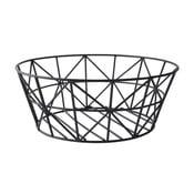 Koszyk dekoracyjny Metal Black, 28,5x11 cm