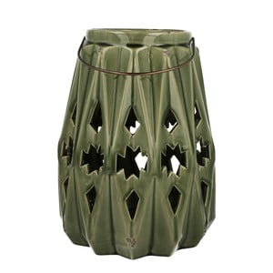 Lampion ceramiczny Green Light, 28 cm