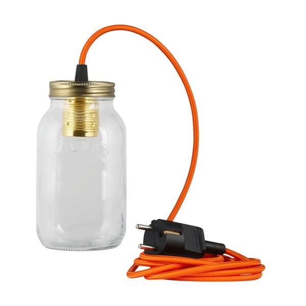 Lampa JamJar Lights, pomarańczowy okrągły kabel
