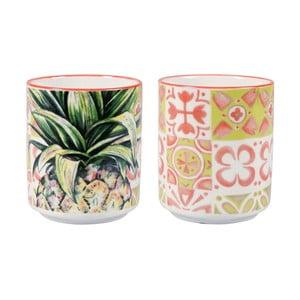 Zestaw 2 porcelanowych kubków bez ucha Sema Tropical