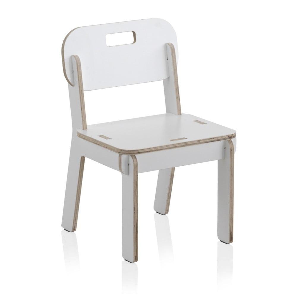 Białe krzesło dziecięce ze sklejki Geese Piper