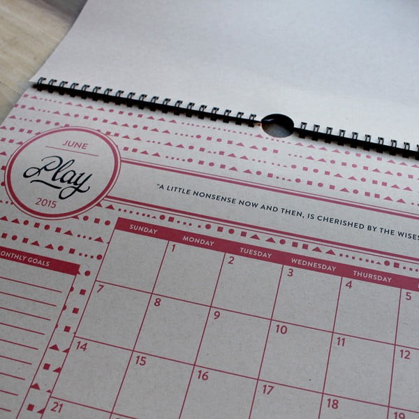 Kalendarz na rok 2015 Holstee
