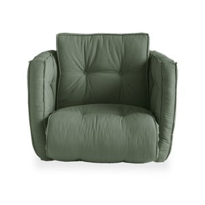 Rozkładany fotel z zielonym obiciem Karup Design Dice Olive Green