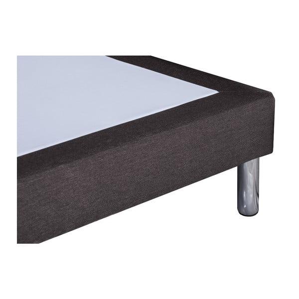 Ciemnoszare łóżko Stella Cadente Sommier, 90x200 cm