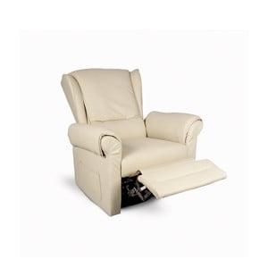 Fotel/leżanka Matisse, beżowa skóra ekologiczna