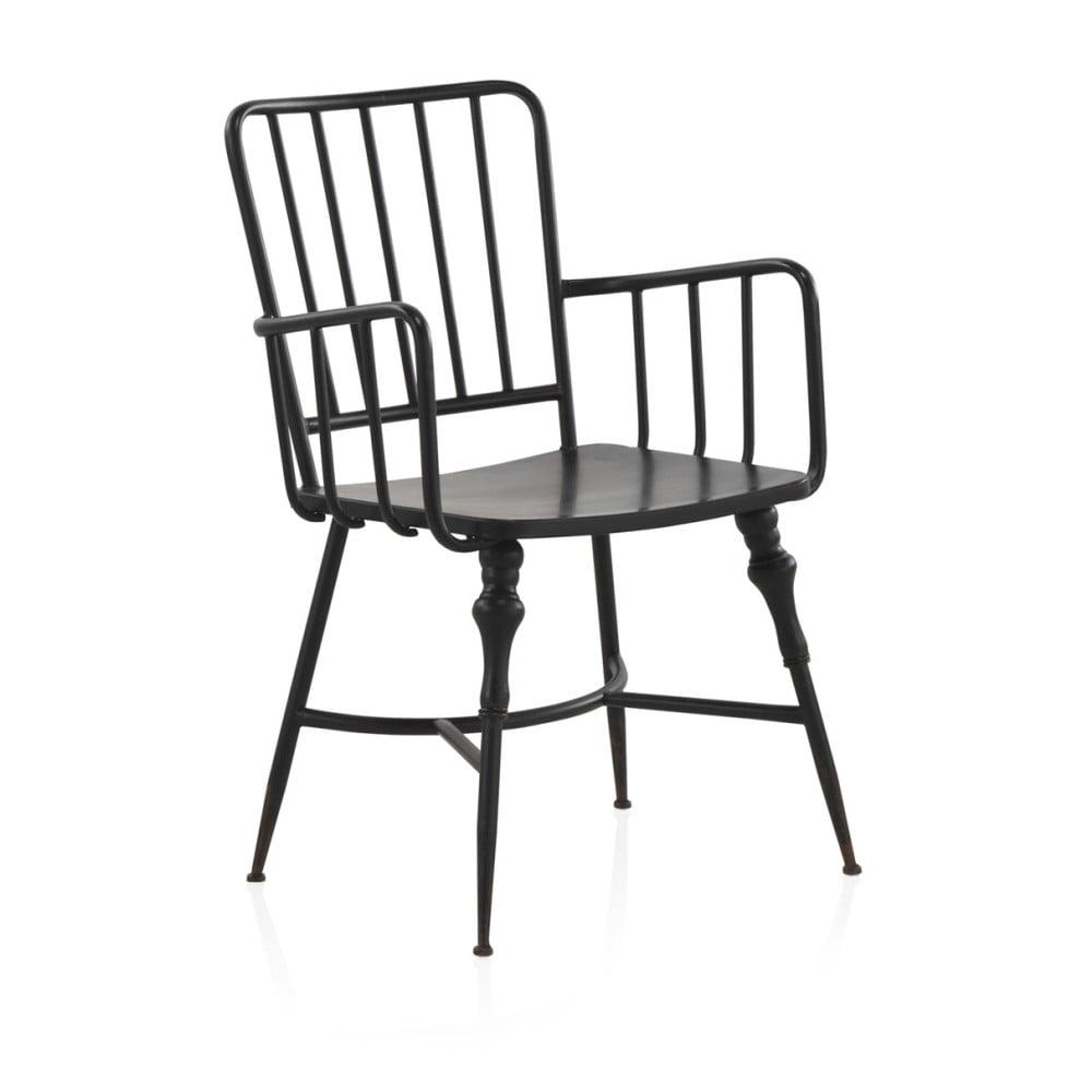 Czarne Krzesło Metalowe Geese Bonami