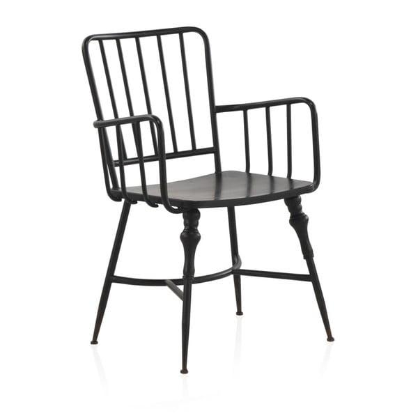 Czarne krzesło metalowe Geese